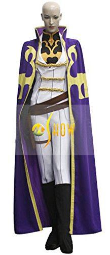 Code Geass Lelouch Cosplay Costumes (Mtxc Women's Code Geass: Lelouch of the Rebellion Cosplay Costume Nonette Enneagram Knight Suit Size Small Purple)