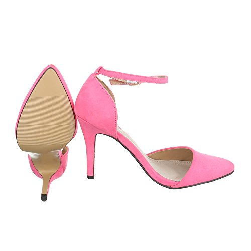 Ital-Design - Plataforma Mujer Rosa SY02P-3