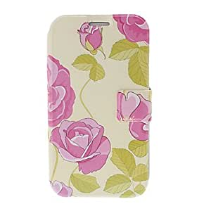 Gt Small Fresh Violet Flowers Leather Case with Stand for Samsung Galaxy Note 2 N7100