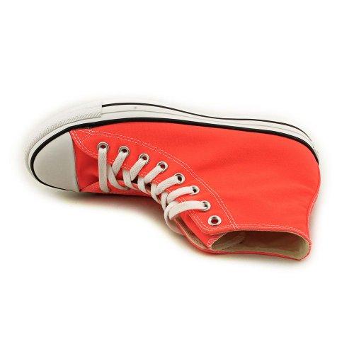 Converse Chuck Taylor All Star Speciality Hi, Zapatillas Altas de Tela Unisex Adulto Naranja (Fiery Coral)