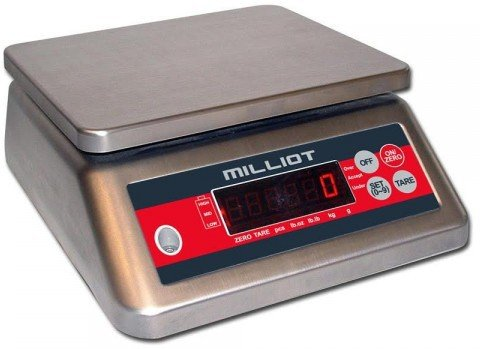 Milliot - Balance Inox Compacte 6 Kg/1 G - 190X230Mm