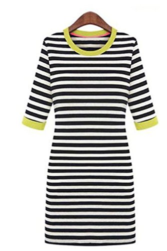 szivyshi - Vestido - Lápiz - para mujer amarillo