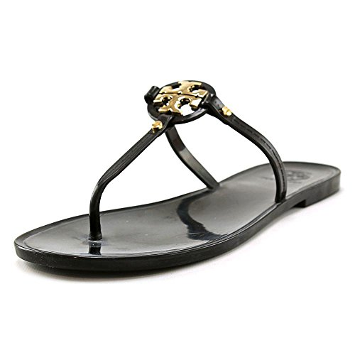 Tory Burch Mini Miller Flat Thong Sandals in Black Size 6 -