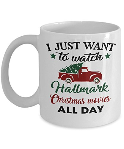 Teacher Time Watch Friends (I Just Want To Watch HALLMARK CHRISTMAS MOVIES All Day - Tree Truck Merry Holiday Coffee Mug, Funny, Cup, Tea, Gift For Christmas, Father's day, Xmas, Dad, Anniversary, Mother's day, Papa, Heart)