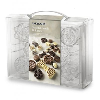 Chocolate Mould Multipack of Various Shapes & Sizes Including Christmas Shapes lakeland