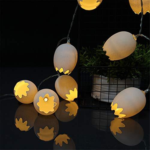 ❤Ywoow❤ String Lights, Easter Warm String Light 10 LED Eggshell Shape Light Battery Powered for Party Home Garden -