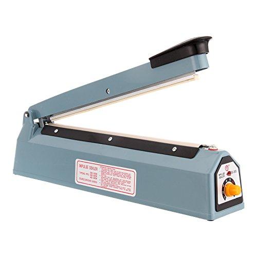 Anmas European EU 220v 30cm/12 inch Manual Impulse Sealer Hand Heat Seal Machine Poly Plastic Bag Film Tubing Sealing Closer ()