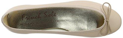 French Sole Henrietta Plain Leather - Bailarinas de cuero mujer Beige - beige