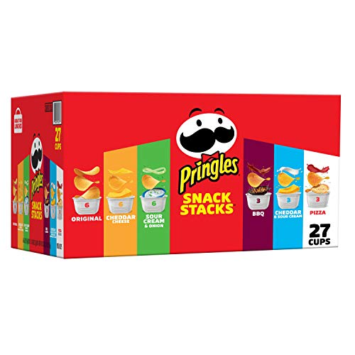 Pringles Snack Stacks Potato Crisps Chips, Flavored