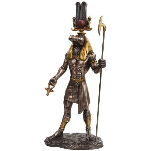 11 Inch Egyptian Sobek Mythological God Bronze Finish Statue Figurine by (Castle Bronze Finish)