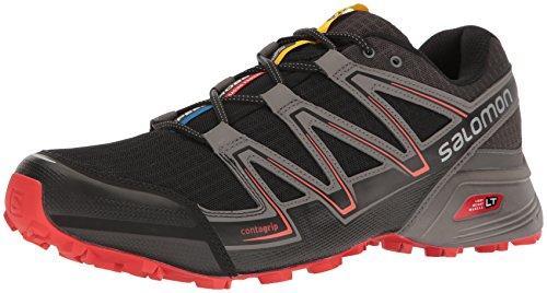Salomon Mens Speedcross Vario Trail Runner Nero / Magnete / Rosso Fuoco