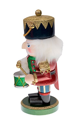 Red and Green Chubby Drummer Nutcracker by Clever Creations | Traditional Christmas Christmas Decor | 9'' Tall Perfect for Shelves and Tables | Must Have for Any Collection | 100% Wood by Clever Creations (Image #1)