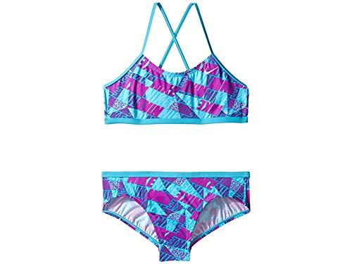 Nike Kids Girl's Graphic Crossback Bikini (Big Kids) Chlorine Blue -