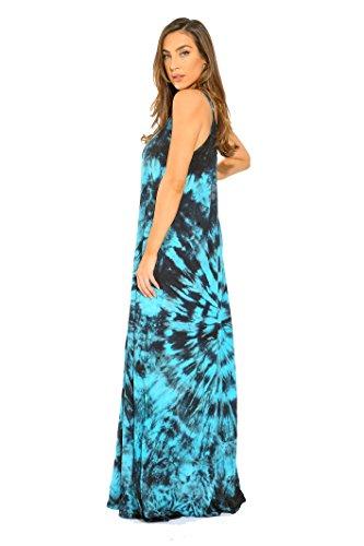 Strap Tie turquoise Maxi Black Riviera Sun Dress Dye Spaghetti wIxS5qB