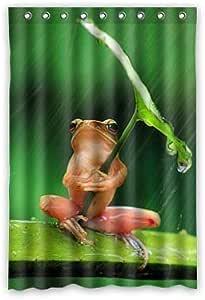 Custom frog Shower Curtain Polyester 120cm x 183cm