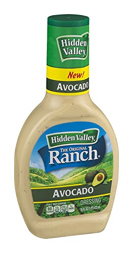 Hidden Valley, Ranch Dressing, Avocado, 16 Ounce Bottle (Pack of 2)