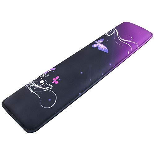 Wrist Rest Keyboard Pad Computer Keyboard Accessory Memory Foam Anti-Slip Gaming PC Ergonomic Hand Wrist Pad Full Size Stitched Edges (KS-1600)