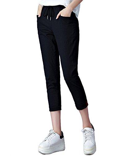 Yoga Nero Slim Donna Pantaloni Stretch Casual Sportivi Matita Jogging Eleganti OqnRCwxv