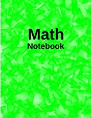 Math Notebook: 1/2 Inch Squares Lined Graph Paper for Kids and Students | Lime Cover Notebook | 120 Quad Ruled Pages | 8.5 x 11 Inches.