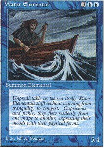 Magic: the Gathering - Water Elemental - Fourth Edition