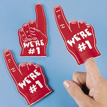 (Dozen RED Mini Foam Fingers)