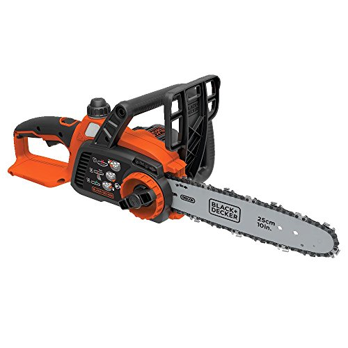 BLACK+DECKER LCS1020B 20V Lithium Ion Cordless Chainsaw Bare Tool, 10-Inch