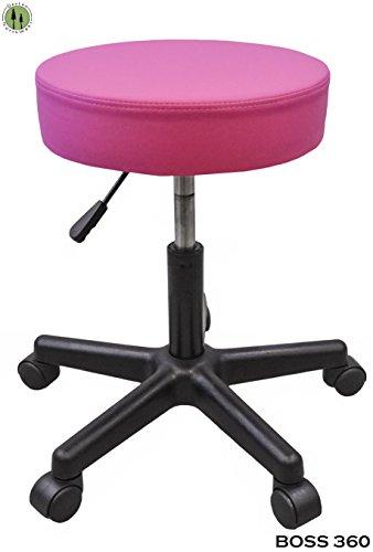 Tattoo Stool Chair Rolling Ergonomic Hydraulic Artist Spa Salon Rolling Pink