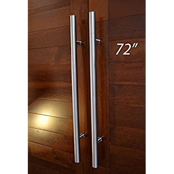 Pull push 72 inches handles for entrance entry front door for Front door handle 7 5 inches