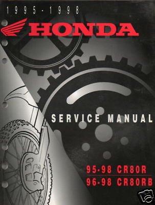 1995-98 HONDA MOTORCYCLE CR80 SERVICE MANUAL (Honda Repair Cr80 Manual Service)