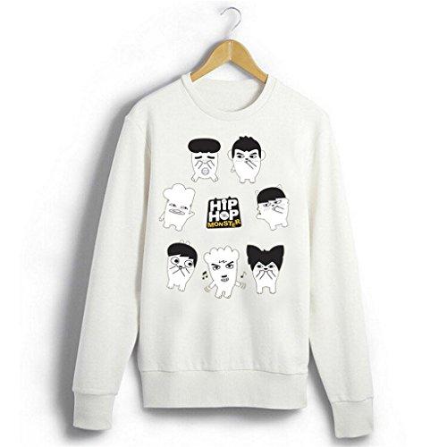 Fanstown BTS bangtan boy official same wake up concernt sweater white J-HOPE Jinmin V Rap monster