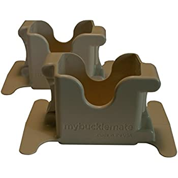 MyBuckleMate Backseat Buckle Holder - Stabilizes Floppy Buckles (Set of 2)