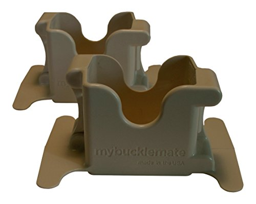 (MyBuckleMate Backseat Buckle Holder - Stabilizes Floppy Buckles (Set of 2))