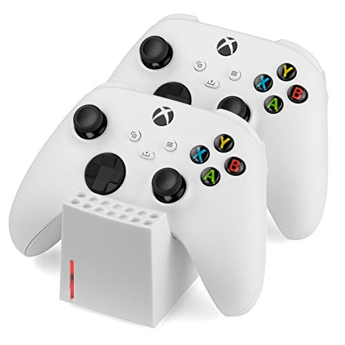 snakebyte Xbox TWIN CHARGE SX – wit – Xbox Series X laadstation voor Series X controllers, oplader voor 2 draadloze…