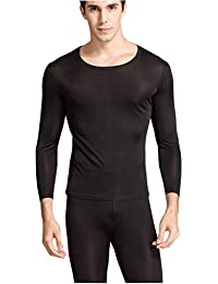 Men's Thermal Underwear Set Mulberry Silk Stretch 2pc Long John Underwear