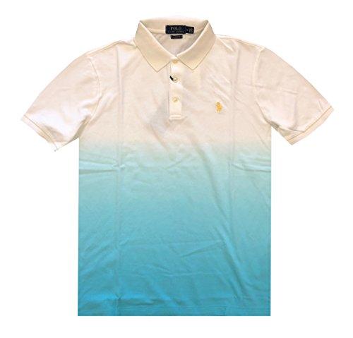 Polo Ralph Lauren Mens Classic Fit Mesh Polo T-Shirt (XXL, White/Blue - Ralph Lauren Tshirts Xxl