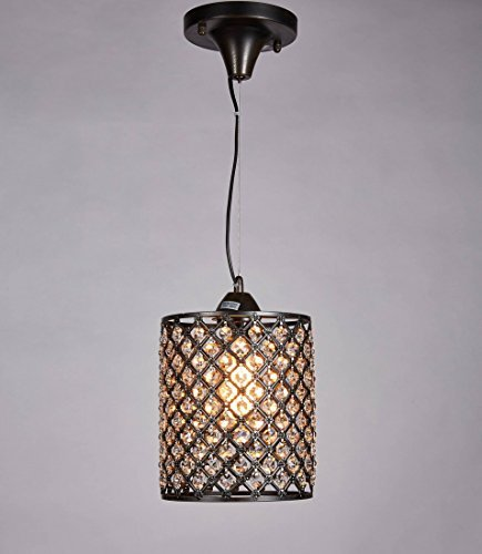 Black Pendant Light With Crystals in Florida - 8