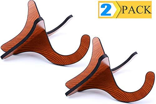Ukulele Stand Holder 2 Pack Wooden Stand Folding Portable Musical Instrument Stand for Ukulele Violins Mandolins and Banjo
