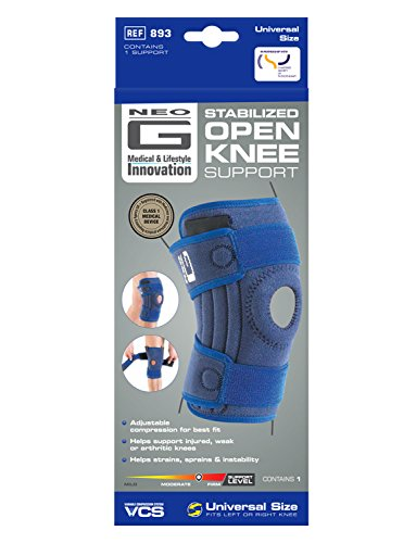 Neo G Knee Brace, Stabilized Open Patella - Support For Arthritis, Joint Pain, Meniscus Tear, ACL, Running, Basketball, Skiing – Adjustable Compression – Class 1 Medical Device – One Size – Blue by Neo-G (Image #5)