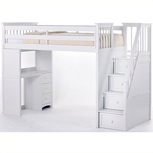 Bunk Beds With Stairs And Desk Amazon Com