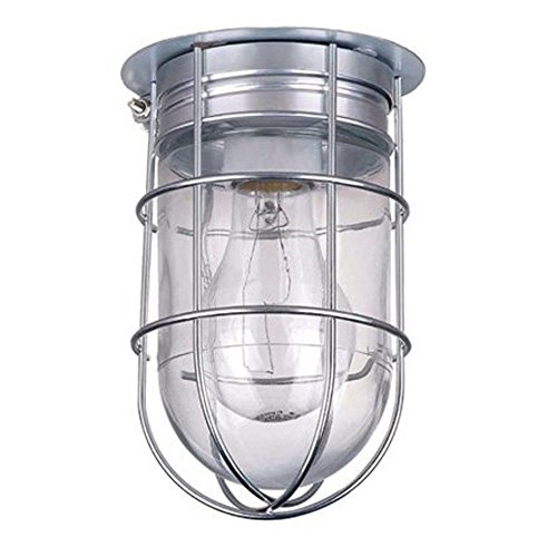 All Weather Wall Barn Ceiling Exterior Light with Cage Outdoor Caged Light Century Collection Flush