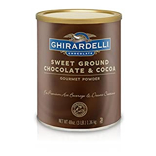 Ghirardelli Chocolate Sweet Ground Chocolate & Cocoa Beverage Mix, 48 oz Canister (B0019SE6M0) | Amazon price tracker / tracking, Amazon price history charts, Amazon price watches, Amazon price drop alerts