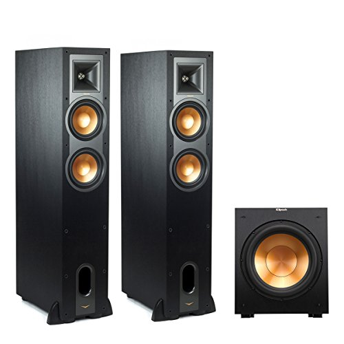 Klipsch R-26FA Dolby Atmos Floorstanding Speakers with R12SW