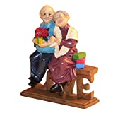 Anniversary Gifts Loving Elderly Couple Figurines, Old Age Life Resin Home Decorations