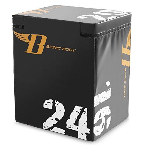 Bionic Body Plyo Exercise Box Plyometric Box with Soft Cover BBPB-1106 by Bionic Body