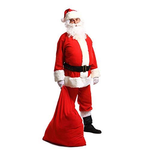 (TUJHGF Navidad Viejo Hombre Disfraz Men Oro Terciopelo Etapa)
