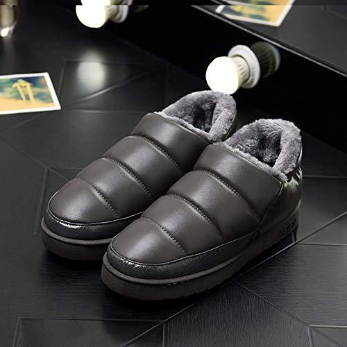 Moda Modelli Pantofole Casa 43 Impermeabile 44 Amanti 19cm Cuoio Antiscivolo Di Calde red Cotone E Autunno Hong Della Grey Inverno Jia Esplosione fax4XA