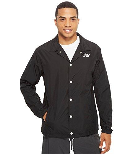New Balance Men's Classic Coaches Jacket, Black, Large