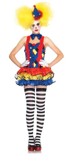 Leg Avenue Women's 3 Piece Giggles Clown Tutu Dress with Tie And -