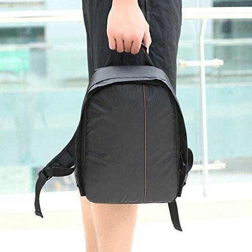 ulable Wasserdicht Kamera DSLR-Objektiv-Rucksack Tasche Verstellbare gepolsterte Trennwände