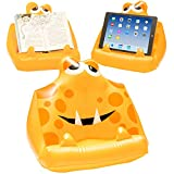 Kids Tablet & iPad Lap Holder, Inflatable Book Stand. Great Reading Rest for Bed, Travel or Study for Children – Yellow